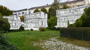 Skizze der geplanten Bebauungauf Basis der vorliegenden Unterlagen (Foto Grüne Stadtratsfraktion Mühldorf)