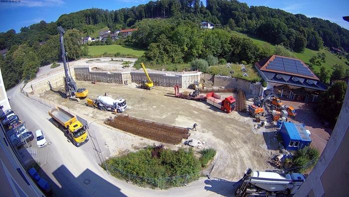 Spezialtiefbauarbeiten beim Neubau des Gymnasiums Gars