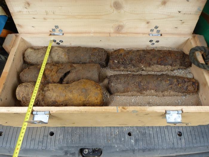 Die gefundenen Granaten sind noch immer detonierfähig.