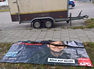 Vandalismus bei Landtagskandidat Kilian Maier