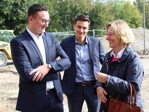 Bürgermeisterin Marianne Zollner verschaffte sich einen Überblick